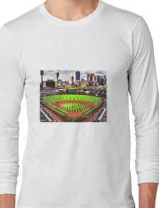 """PNC Park - """"Home of the Pittsburgh Pirates"""" Long Sleeve T-Shirt"""