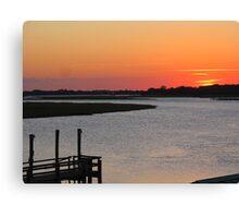 Bowens Island, Folly Beach, SC Sunset Canvas Print