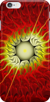 Heat Wave Fractal (iPhone Case) by judygal