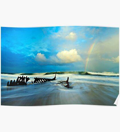 Dicky Beach Rainbow Poster