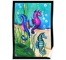 The Fantasy Sea Horses Poster