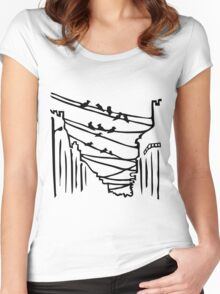 Birds on the Wires Women's Fitted Scoop T-Shirt