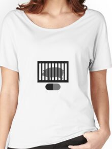 Radiohead Inspired Art - A Pig in a Cage / Fitter Happier Women's Relaxed Fit T-Shirt