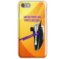 Cows with fricking laser beams iPhone Case/Skin