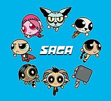 Saga Powerpuffs by BovaArt