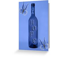 *•.¸♥♥¸.•* THERE IS HOPE! COLON CANCER AWARENESS *•.¸♥♥¸.•* Greeting Card