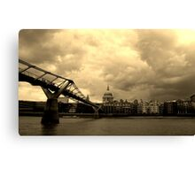 St Paul's Cathedral and the Millennium Bridge, London Canvas Print