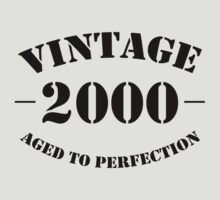 Vintage 2000 birthday by personalized