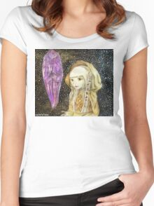 The Dark Crystal - Kira Water Color + Mixed Media Women's Fitted Scoop T-Shirt