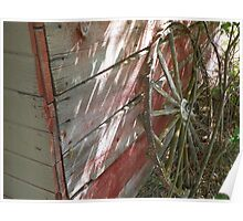 Wagon Wheel Shadows Poster