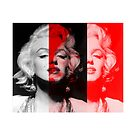 marilyn monroe black and red by albany