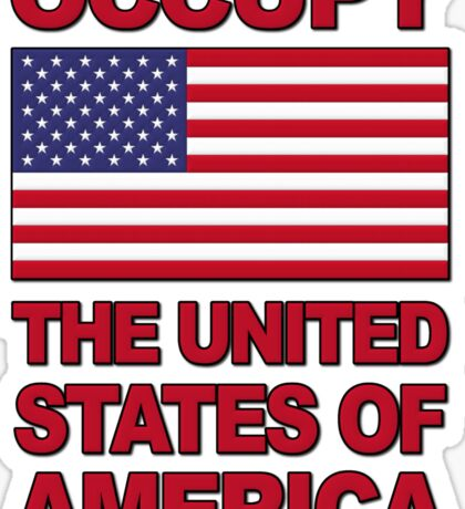 Occupy The United States of America Sticker