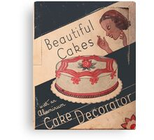 Cake Decorator Canvas Print