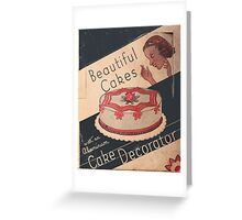 Cake Decorator Greeting Card