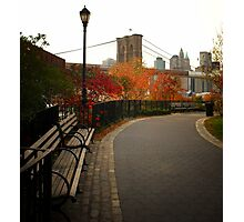 Autumn Overlooking the Brooklyn Bridge - New York City Photographic Print