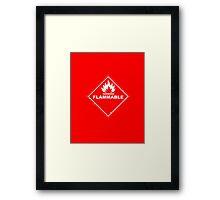 Red Barrels Explode - Flammable Framed Print