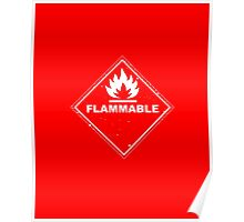Red Barrels Explode - Flammable Poster