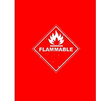 Red Barrels Explode - Flammable Photographic Print