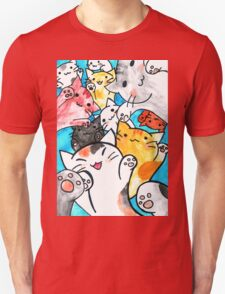 Manga cats conquer the world Unisex T-Shirt