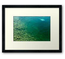 Down Below Framed Print