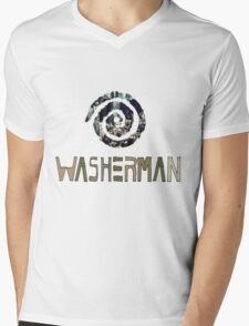 Washerman  Mens V-Neck T-Shirt