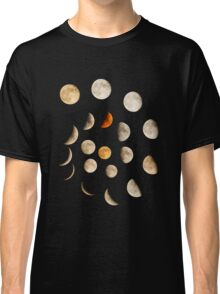 Phases of the Moon Spiral Classic T-Shirt