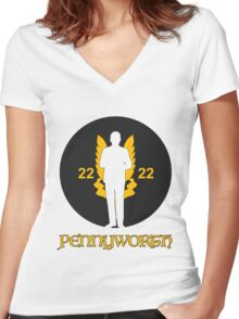 Pennyworth Women's Fitted V-Neck T-Shirt