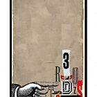 Dada Tarot- 3 of Swords by Peter Simpson