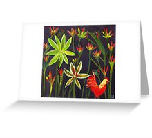 Jungle Rooster #4 Greeting Card