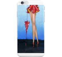 Red Shoes Rain, I phone case, by Alma Lee iPhone Case/Skin