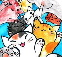 Manga cats conquer the world by superpixus