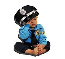 Weary Policeman Photographic Print