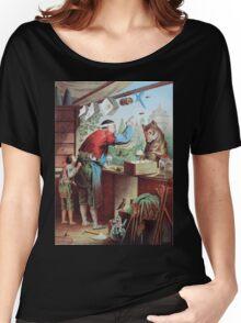 Heinrich Leutemann Wolf und sieben Geisslein 1 Women's Relaxed Fit T-Shirt