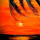 Tropical Sunset...IPhone Case by © Janis Zroback