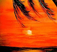 Tropical Sunset...IPhone Case by ©Janis Zroback