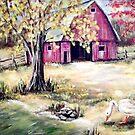 Fall Barn Two by Pamela Plante