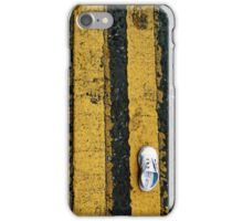 Little lost shoe on double yellow lines iPhone case iPhone Case/Skin