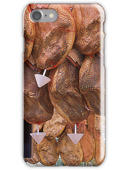 Phone Case – Typical Spanish Ham Delicatesse Barcelona by anjafreak
