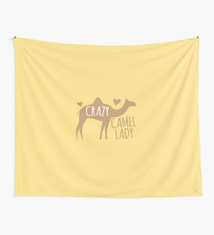 Crazy CAMEL lady Wall Tapestry