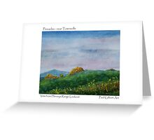 The Pinnacles -From Hervey Range lookout Greeting Card