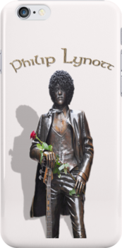 Philip Lynott's Statue - iPhone Case by Martina Fagan