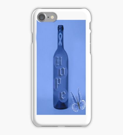 ⓛ ⓞ ⓥ ⓔ There Is Hope Colon Cancer Awareness iPhone Caseⓛ ⓞ ⓥ ⓔ  iPhone Case/Skin