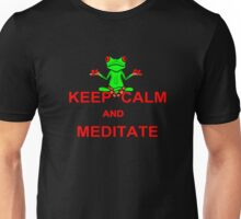 Keep Calm and Meditate Tree Frog Unisex T-Shirt