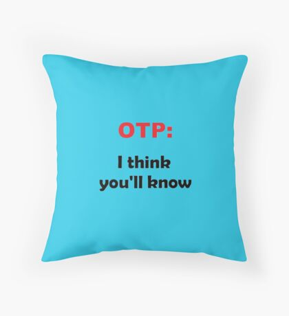 Grey's Anatomy Calzona reference  Throw Pillow