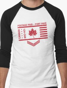 Postage Paid Canada Men's Baseball ¾ T-Shirt