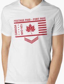 Postage Paid Canada Mens V-Neck T-Shirt