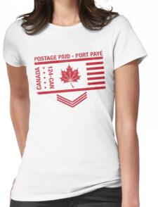Postage Paid Canada Womens Fitted T-Shirt
