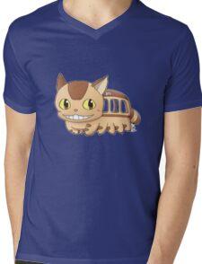 Nekobus Mens V-Neck T-Shirt
