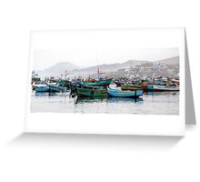 As the fog lifted in Pucusana Greeting Card