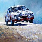 1978 Škoda 130 RS #19 Rally Acropolis  Haugland  by Yuriy Shevchuk
